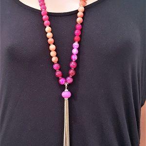 Vera Bradley Semi Precious Stone Tassel Necklace